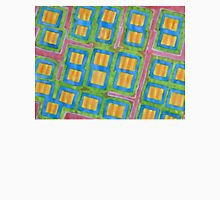 Pastel Colored Striped Squares Pattern Unisex T-Shirt