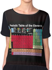 Periodic table of the Elements updated Chiffon Top