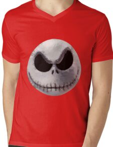 Polygon Art : Jack Skellington Mens V-Neck T-Shirt