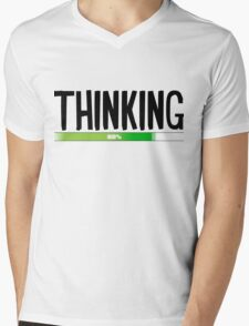 Thinking Process at 82% - cool funny and modern gifts design Mens V-Neck T-Shirt