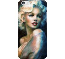 Marilyn WW blue iPhone Case/Skin