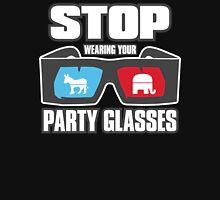 Stop Party Glasses - Democrats & Republicans Unisex T-Shirt