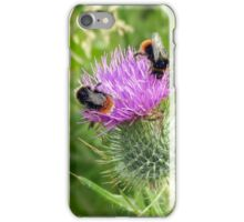 Buzzy Bees on a Thorny Thistle iPhone Case/Skin