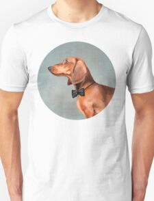 Mr. Dachshund portrait Unisex T-Shirt