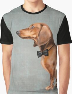 Mr. Dachshund portrait Graphic T-Shirt