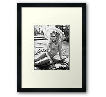 lolita stanley kubrick Framed Print