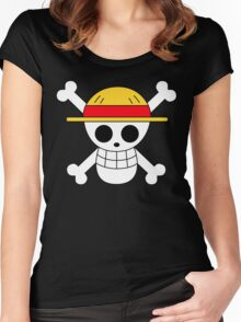 One Piece | Monkey D. Luffy Skull Women's Fitted Scoop T-Shirt