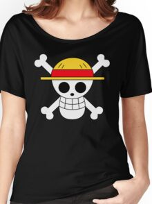 One Piece | Monkey D. Luffy Skull Women's Relaxed Fit T-Shirt