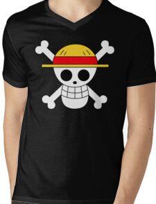 One Piece | Monkey D. Luffy Skull Mens V-Neck T-Shirt