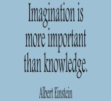EINSTEIN, Imagination, is more important than knowledge. Albert Einstein, Black Type Baby Tee