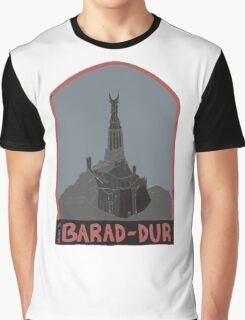 Barad-Dur Retro Travel Poster Graphic T-Shirt