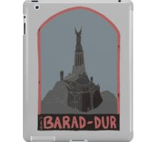 Barad-Dur Retro Travel Poster iPad Case/Skin
