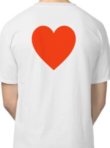Heart, Romance, Love, Red, Love Heart, Pure & Simple, on WHITE Classic T-Shirt