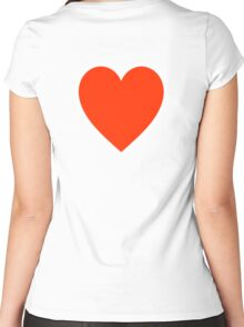 Heart, Romance, Love, Red, Love Heart, Pure & Simple, on WHITE Women's Fitted Scoop T-Shirt
