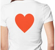 Heart, Romance, Love, Red, Love Heart, Pure & Simple, on WHITE Womens Fitted T-Shirt