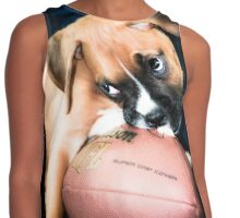 Boxer Dog  Puppy Contrast Tank
