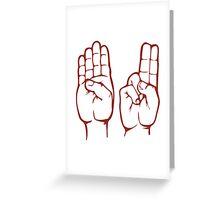 BU in Sign Language Greeting Card