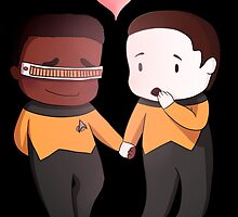 Chibi Data and Geordi by helenadara