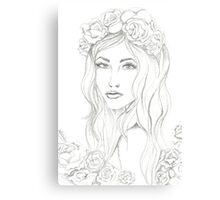 Lovely (bw) Canvas Print