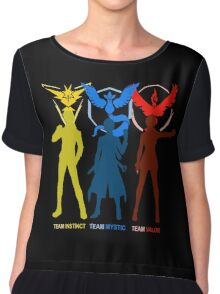 Pokemon Go - Team Mystic Team Valor Team Instinct Chiffon Top