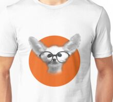 Little fennec fox wearing glasses Unisex T-Shirt