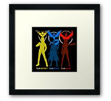 Pokemon Go - Team Mystic Team Valor Team Instinct Framed Print