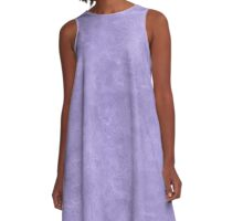 Violet Tulip Oil Pastel Color Accent A-Line Dress
