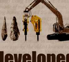 Big Bang Theory - Neanderthals developed tools Sticker