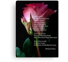 Words of Love in Pink Canvas Print