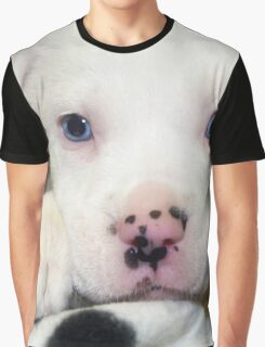 """Spots on Nose""  Blue Eye Puppy Pit Mix Graphic T-Shirt"