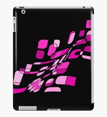 Pink abstract design  iPad Case/Skin