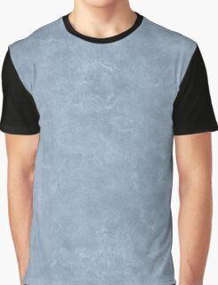 Dusty Blue Oil Pastel Color Accent Graphic T-Shirt