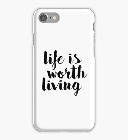 Life is Worth Living - Justin Bieber iPhone Case/Skin