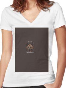 I am fabulous Women's Fitted V-Neck T-Shirt