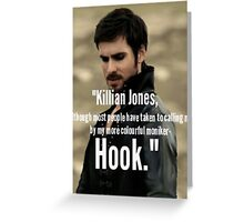 Hook Greeting Card