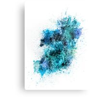Ireland Map Paint Splashes Metal Print