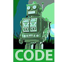 CODE Green Robot Photographic Print