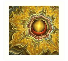 The Fractal Sunflower Art Print