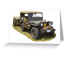 Willys World War Two Army Jeep Greeting Card