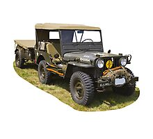 Willys World War Two Army Jeep Photographic Print