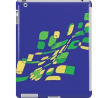 Blue and green abstract design iPad Case/Skin