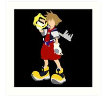 Kingdom Hearts-Sora Art Print