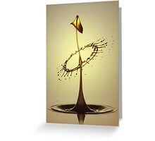 In brown and yellow Greeting Card