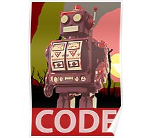 CODE Red Robot Poster