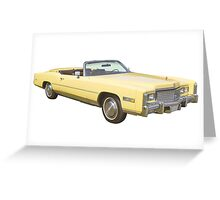 1975 Cadillac Eldorado Convertible Greeting Card