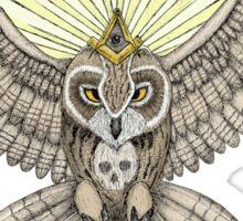 Mason Owl (Color version) Sticker