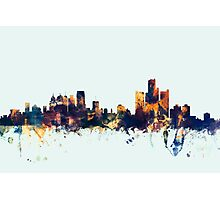 Detroit Michigan Skyline Photographic Print