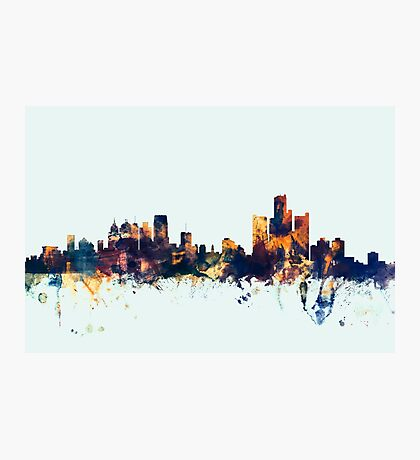 Detroit Michigan Skyline Photographic Print