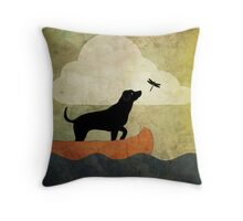 Pillow - Canoeing with Dogs Throw Pillow