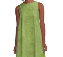 Peridot Oil Pastel Color Accent A-Line Dress
